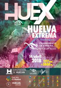 Cartel de la prueba que tendrá lugar el 14 de abril entre Higuera de la Sierra y Mazagón.