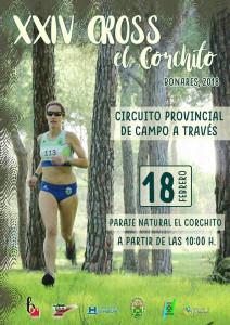 Cartel de la prueba atlética de este domingo en Bonares.