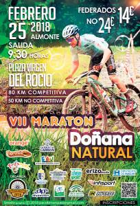 Cartel anunciador de la prueba ciclista que se celebrará en Almonte.