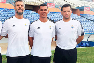 César Negredo, a la izquierda, junto a Javier Casquero y Ángel López.
