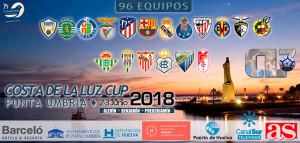 Cartel anunciador de lo que será en junio una gran fiesta del fútbol base en Punta Umbría.
