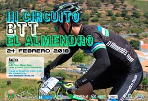 Cartel anunciador de al prueba ciclista que se disputará en El  Almendro.