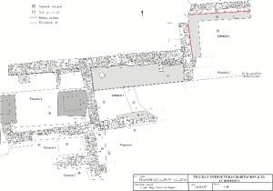 Mapa de la zona intervenida por el arqueólogo. / Foto: Miguel Ángel López.