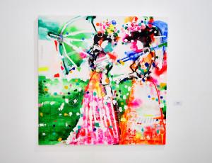 El color está muy presente en su obra.