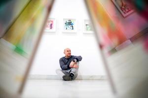 El artista dedica la muestra a su familia. / Foto: Sergio Cantos.