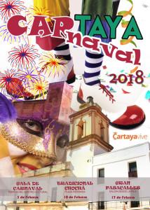 Cartel del carnaval de Cartaya 2018.