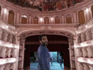 David Herrero en el Teatro de Biella .