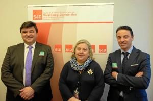 Un momento de la reunión con Clara Aguilera, europarlamentaria del grupo de la Alianza Progresista de Socialistas y Demócratas y miembro de la Comisión de Agricultura.