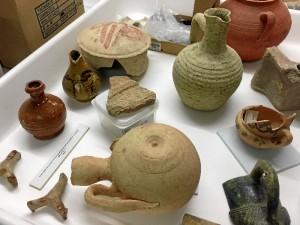 Imagen de las algunas de las piezas de la isla Saltés que se expondrán en la nueva sección.