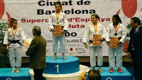 Almudena Gómez se cuelga una más que trabajada medalla de bronce en la Súper Copa de España de judo