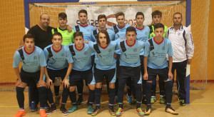 Equipo Juvenil de La Palma FS, ya campeón provincial.