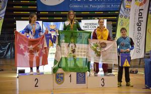 Leyre Fernández, oro en Junior Femenino.