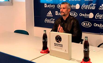 César Negredo, entrenador del Recreativo de Huelva.