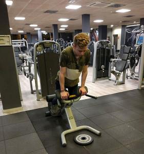 El piloto onubense ha dedicado muchas horas de gimnasio durante este invierno.