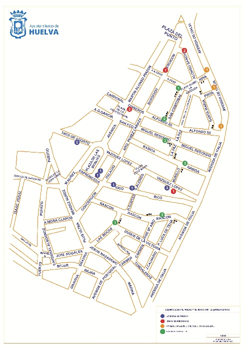 La retirada de contenedores en horario diurno se amplía a toda la zona peatonal del Centro  a partir del 26 de febrero