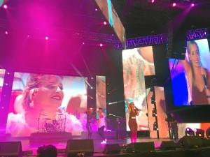Una de sus actuaciones en Perú, en los Premios 'La Zona'.
