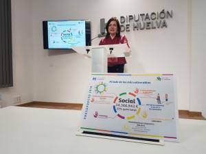 La diputada de Bienestar Social, Aurora Vélez, presentó el presupuesto de su área en rueda de prensa.