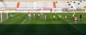 Misffut celebra el primero de sus goles en Algeciras.