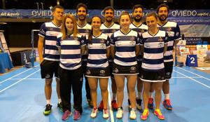 Formación del equipo onubense en su partido en Oviedo.