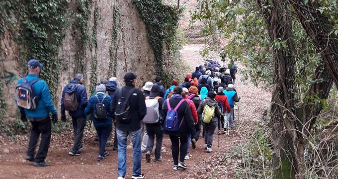 Medio centenar de personas disfrutan en la Sierra de una nueva ruta de senderismo del Patronato Municipal de Deportes de Aljaraque