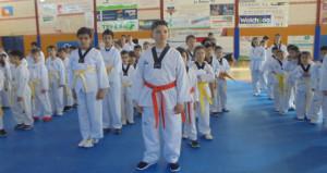 Un momento del  Encuentro Taekwondo Kuroi celebrado en La Palma del Condado.