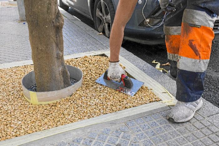 Trabajos en calle Juan de Mena