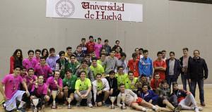 Participantes en la final de la Unilada, que tuvo al IES Pablo Neruda como ganador.