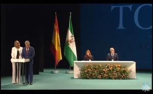 La gala estuvo presidida por el presidente del Parlamento andaluz y la presidenta de la Junta de Andalucía.