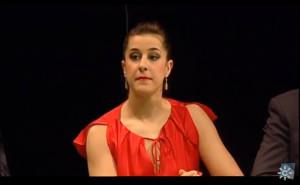 La jugadora de bádminton en un momento de la gala.