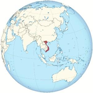 Situación geográfica de Vietnam.