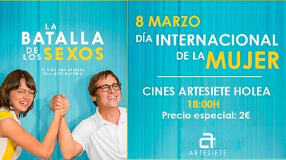 Los Cines Artesiete Holea proyectan un pase especial con motivo del Día de la Mujer