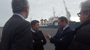 Visita de Mariela Fernández-Bermejo al Puerto de Huelva.