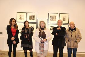 Inauguración de la exposición de Bernard.
