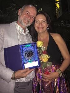Héctor Garrido y Laura de la Uz en la Gala de los Premios Excelencias 2017 - 22 de febrero de 2018