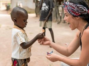 Durante su experiencia en Senegal. / Foto: Enrique Pratas.