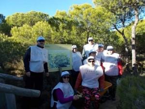 Miembros de la Asociación Parque Dunar de Matalascañas.