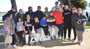 Equipo de piragüismo del Club Deportivo Náutico Punta Umbría.