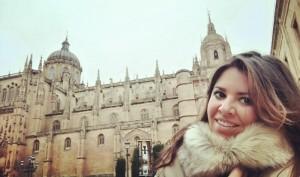 La periodista Paula Zorita, impulsora del proyecto en Salamanca.