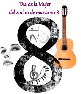 Cartel anunciador de la Semana de la Mujer en San Juan del Puerto.