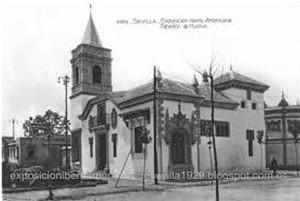 Otra perspectiva del Pabellón de Huelva.