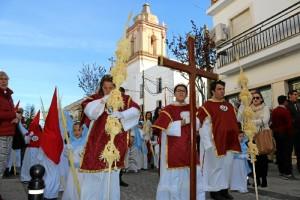 Un momento del Domingo de Ramos en Cartaya.