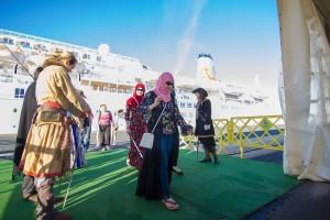 El buque Marella Celebration ha atracado por primera vez en Huelva.