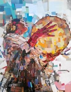 Collage del artista Víctor García, 'Repo', de su serie 'Piedrapapeltijeras'.
