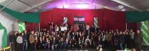 Participantes en los actos del 28F en Puebla de Guzmán.