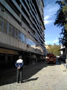 Edificio afectado en la zona de Parque América.