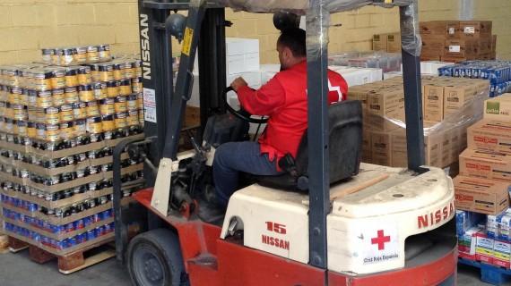 Cerca de 668.500 kilos de alimentos se distribuyen entre 25.677 familias desfavorecidas en Huelva