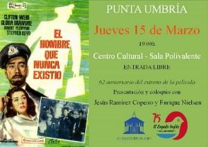 Jueves 15 de marzo a las 19:00h proyeccción de la película 'El hombre que nunca existió' en el Centro Cultural de Punta Umbría (sala Polivalente).