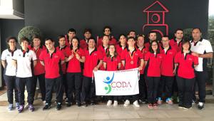 Componentes del CODA que han tomado parte en el Campeonato celebrado en San Fernando.