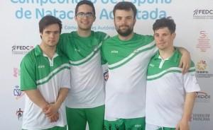 Los cuatro representantes del CODA en el Campeonato de España de Natación por Comunidades Autónoma.