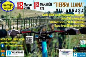 Cartel de la prueba ciclista que tendrá lugar en Villarrasa el próximo 18 de marzo.